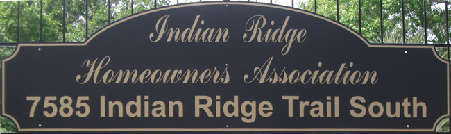 Indian Ridge Homeowners Association